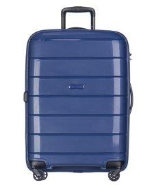 Duża walizka PUCCINI PP013 Madagaskar granatowa