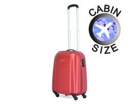 Mała walizka PUCCINI ABS02 Lizbona czerwona