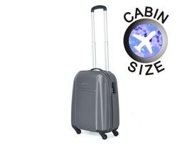 Mała walizka PUCCINI ABS02 Lizbona szara antracyt