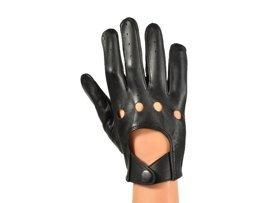 Rękawiczki męskie PUCCINI M-102 krótkie czarne
