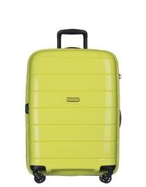 Średnia walizka PUCCINI PP013 Madagaskar limonkowa
