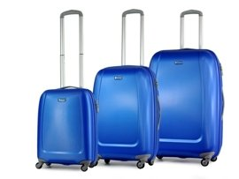 Zestaw trzech walizek PUCCINI ABS01 Barcelona niebieski