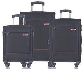 Zestaw trzech walizek PUCCINI EM-50720 Parma czarny