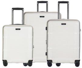 Zestaw trzech walizek PUCCINI PC021 Vienna kremowy
