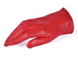 Rękawiczki damskie PUCCINI D-1578 czerwone z zamkiem