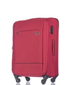 Średnia walizka PUCCINI EM-50720 Parma czerwona