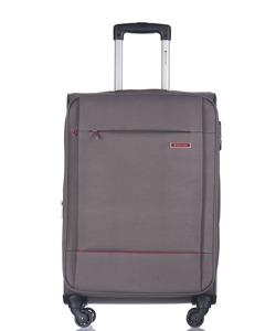 Średnia walizka PUCCINI EM-50720 Parma szara