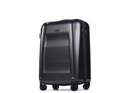 Średnia walizka PUCCINI PC017 New York szary antracyt