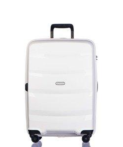 Średnia walizka PUCCINI PP012 Acapulco biała