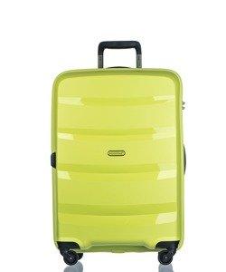 Średnia walizka PUCCINI PP012 Acapulco limonkowa