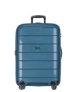Średnia walizka PUCCINI PP013 Madagaskar turkusowa
