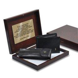 Zestaw Puccini portfel męski + etui na długopisy w pudełku