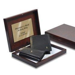Zestaw Puccini portfel męski + etui na klucze w pudełku