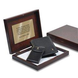 Zestaw Puccini portfel męski + etui na wizytówki w pudełku