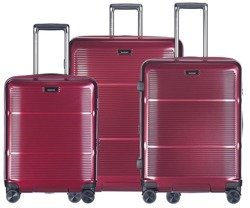 Zestaw trzech walizek PUCCINI PC021 Vienna bordowy
